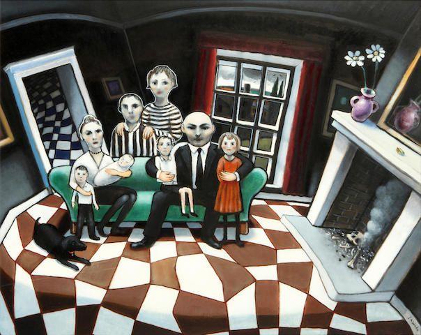 Jonathan-Armigel-Wade-(born-1960)-En-Famille.jpg