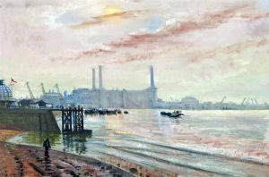 Sidney George Ure Smith (1887-1949), Greenwich Power Station, London