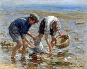 William Marshall Brown (1863-1936), Bait Gathering