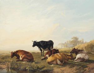 Thomas Sidney Cooper (1803-1902), Cattle by a pond