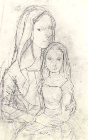 Léonard Tsuguharu Foujita, Mère et sa fille