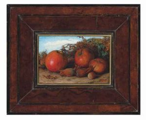 William James Webbe, Autumn: Still life of apples and cobnut
