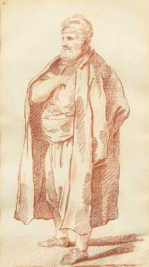 Hubert Robert - A Man Wearing a Turban