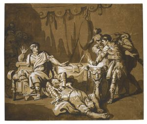 Philippe Louis Paizeau - Drawing of Mucius Scaevola and King Porsena