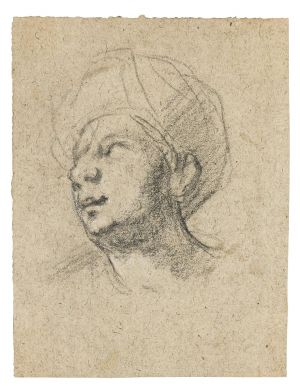 Govaert Flinck, Cleves - Head of man with turban