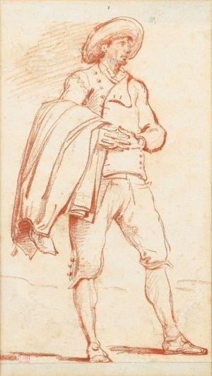 Hubert Robert - A Gentleman Carrying His Coat