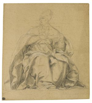 Battista Dal Sole, Study of a Seated bishop