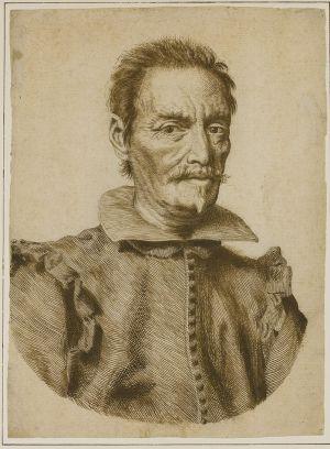 Claude Mellan - Portrait of Vincenzo Giustiniani 1631
