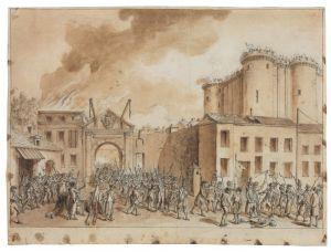 Claude Louis Desrais, Paris - The Storming of the Bastille