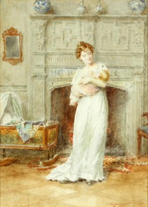 George Goodwin Kilburne, RI, RBA - Mother and child