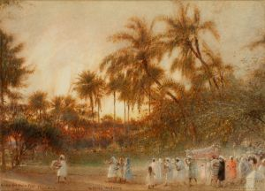 Albert Goodwin, RWS - Under the Palm Trees, Trinidad