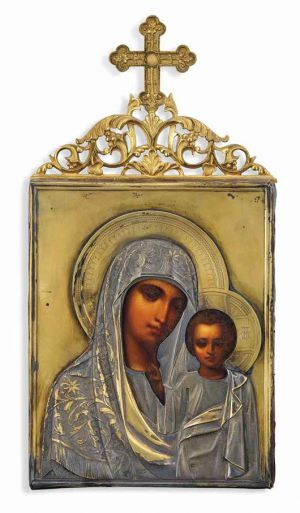 Russian Icon - The Kazanskaya Virgin