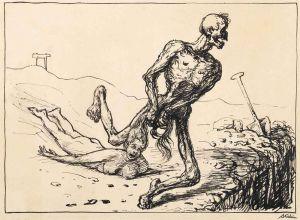 Alfred Kubin - Der Tod bei der Arbeit