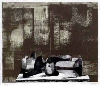 Henry Moore O.M., C.H (British, 1898-1986) Reclining Figure Architectural Background IV (Cramer 457) .jpg