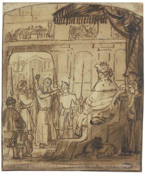 Rembrandt School/Workshop - Christ Before Pilate
