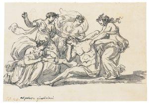 Jacques-Louis David - The Death of Pentheus