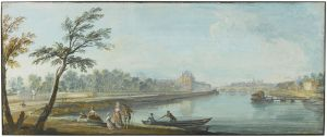 Jean-Baptiste Lallemand (1716 – 1803), A view of Paris and the Seine from The Tuileries Gardens